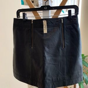 Madewell leather skirt